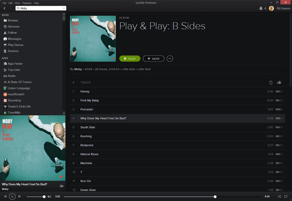Spotify's new black interface - REALACT