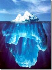 Lies are like icebergs